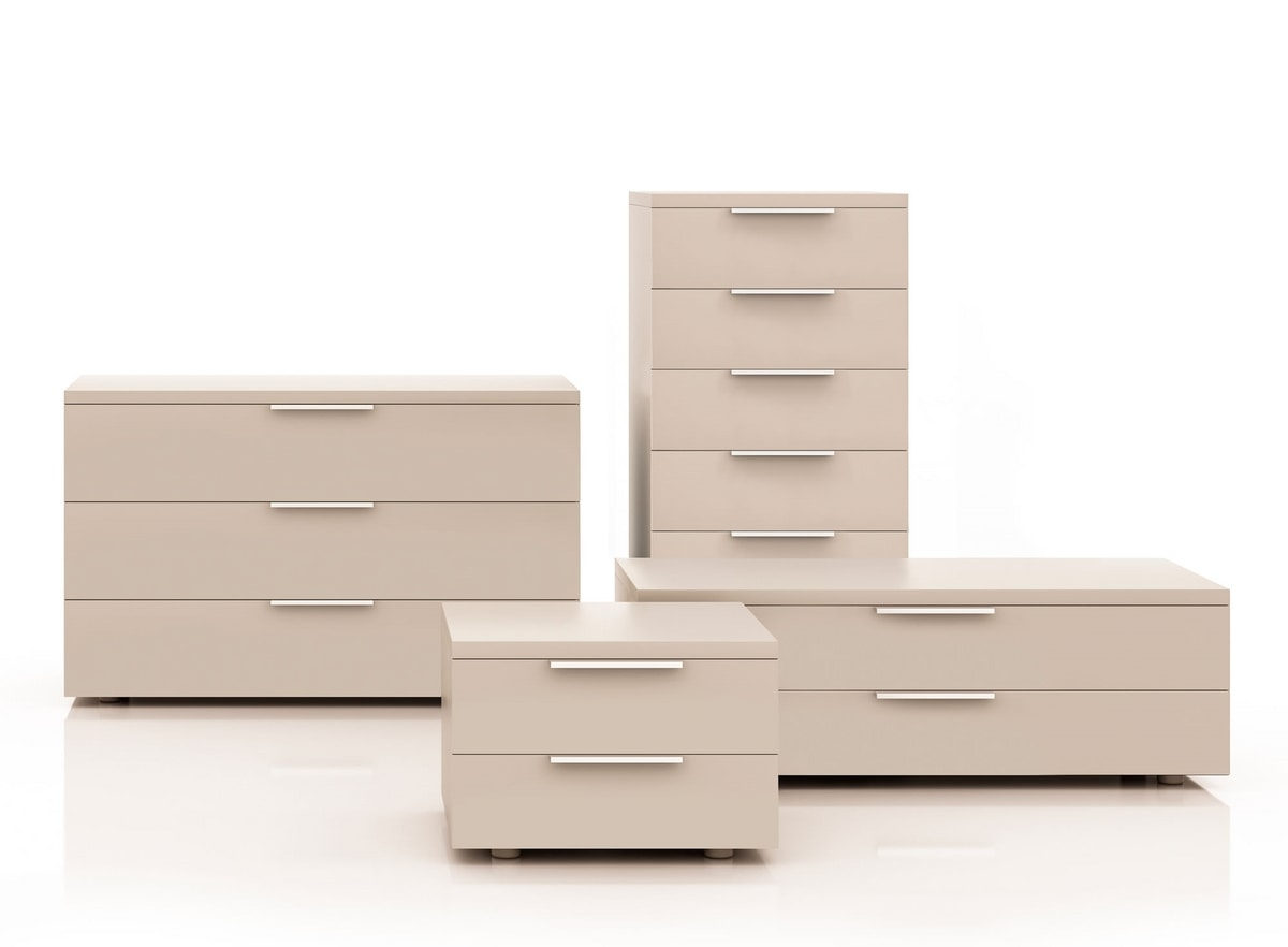MATRIX chest of drawers, Chest of drawers with an essential design