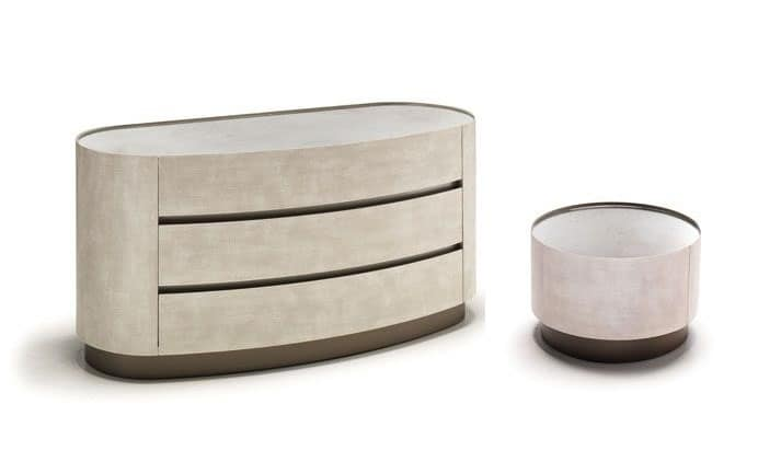 Mirto 2 group, Nightstand and chest of drawers matched to modern bedrooms