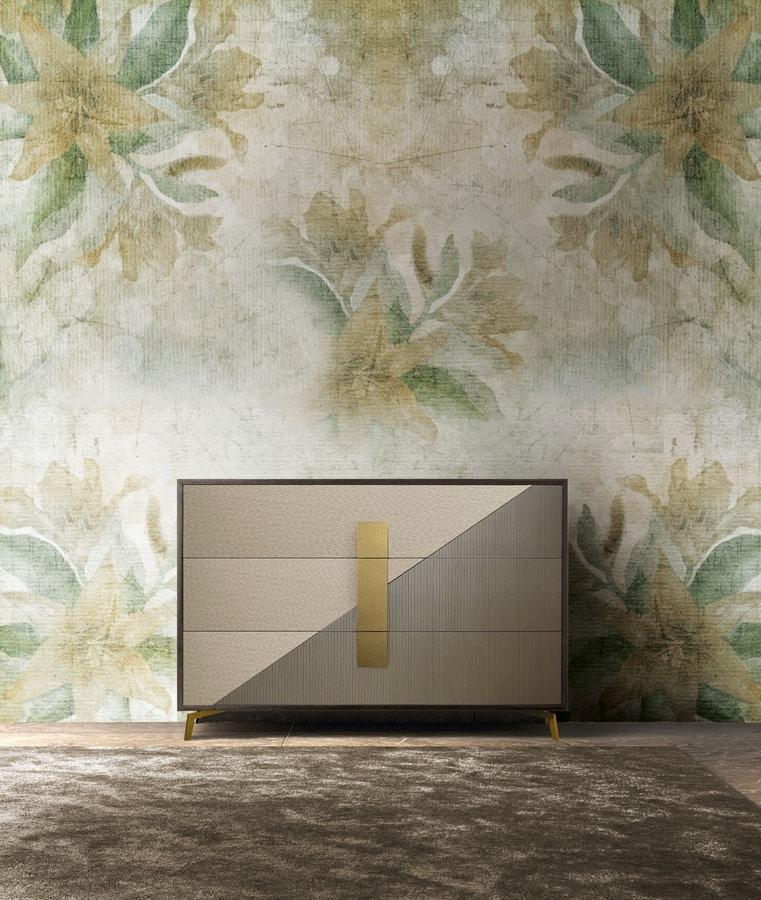 Morfeo Art. M0013, Dresser with metal feet
