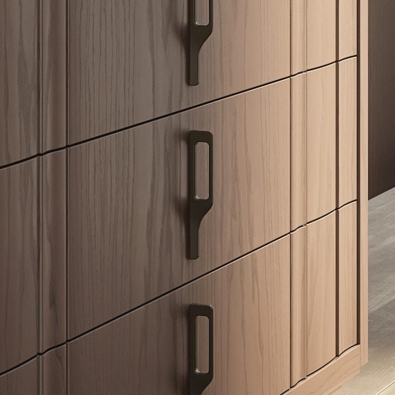 Nova NOVA1301T, Modern wooden chest of drawers with plinth