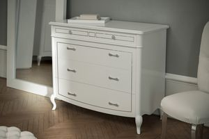 Prestige 2 Art. 5305, White lacquered chest of drawers