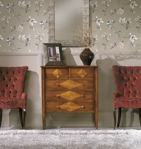 Rombo chest of drawers, Chest of drawers with rhombus inlays