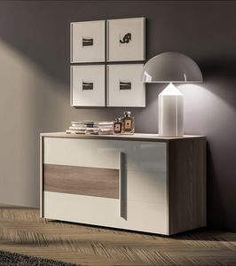 SEASON chest of drawers, Chest of drawers made of melamine and glass