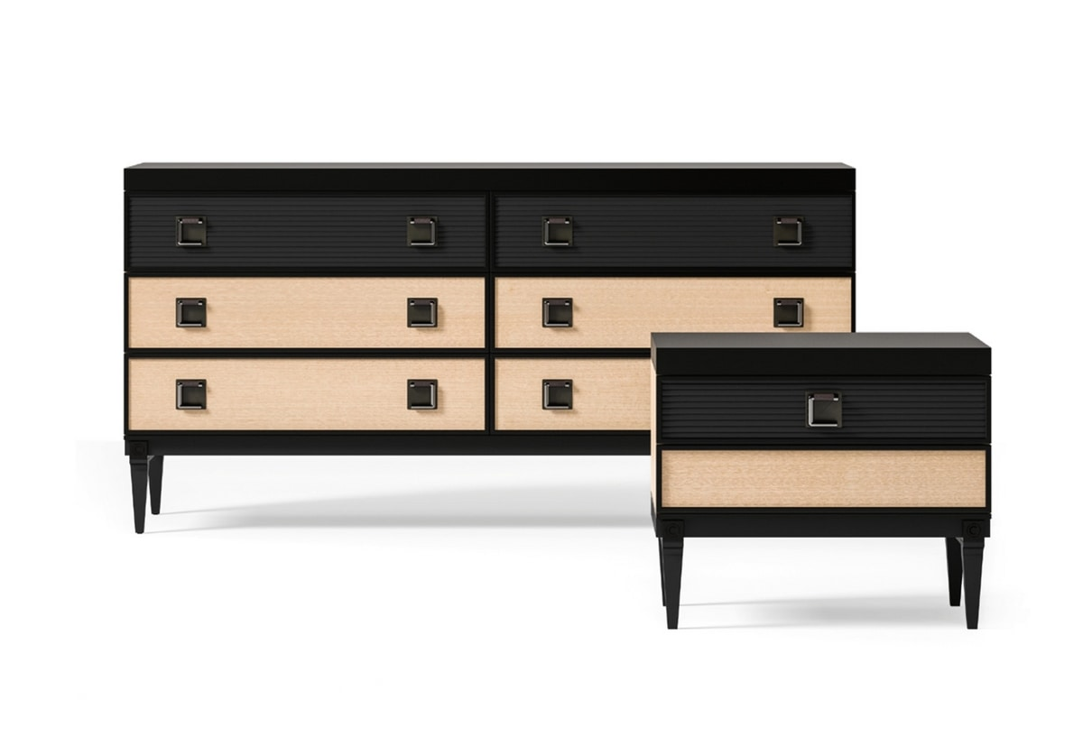 Sesto senso Art. 511, Solid and elegant chest of drawers
