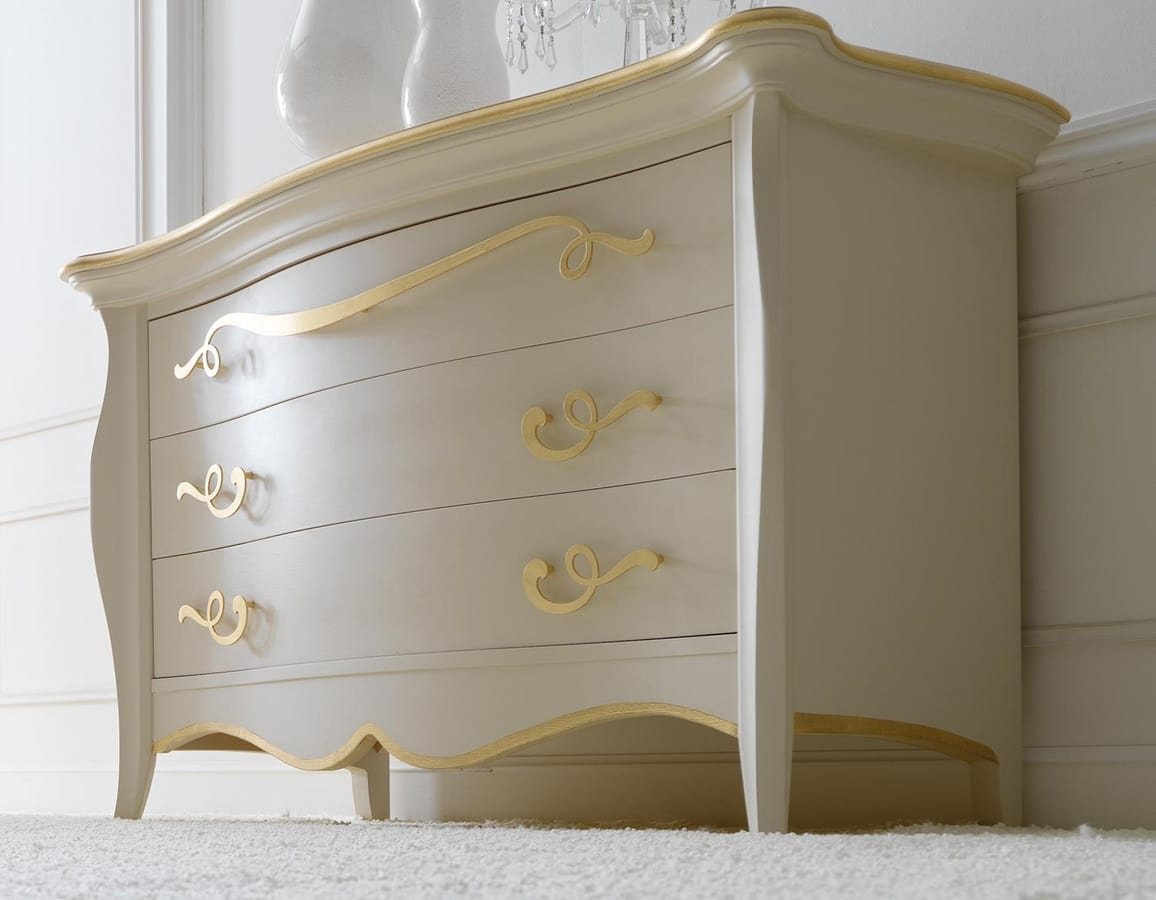 Sofia Art. 452, Dresser with softness and harmonies of shapes and volumes
