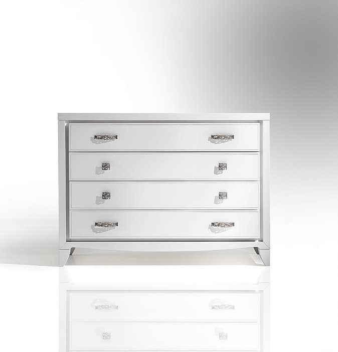 ST 702 P, Contemporary dresser with oval handles