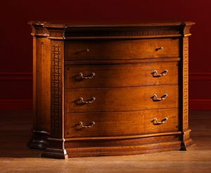 Sticciano ME.0771, 16th-century-style Florentine chest of drawers with four drawers