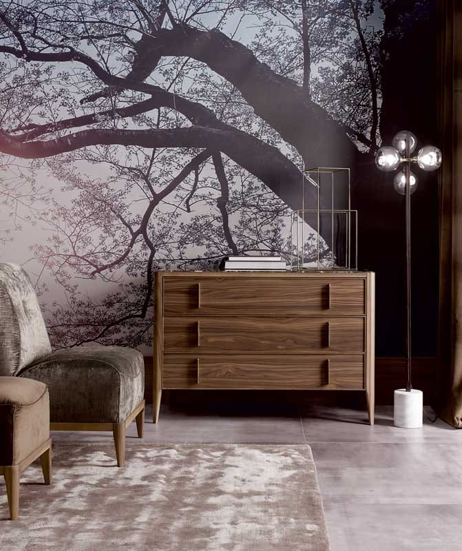 Sunrise chest of drawers, Chest of drawers with mirror top