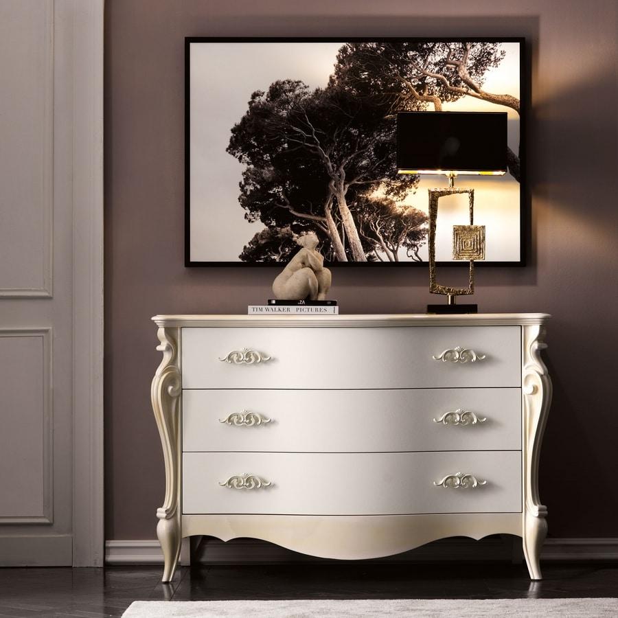 Versailles Art. 480, Elegant dresser decorated by hand