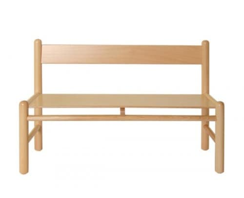 940/P, Bench in beech, available in color, for kindergartens