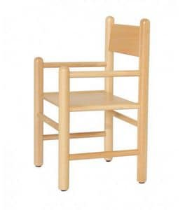 941, Children's chair with armrests, available in colors