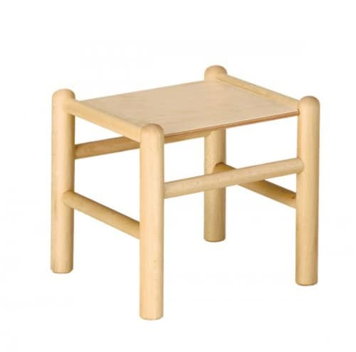 942, Stool in beech for children, in various colors