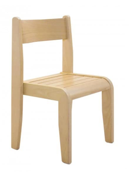 Andy, Stackable children's chair, made of beech wood