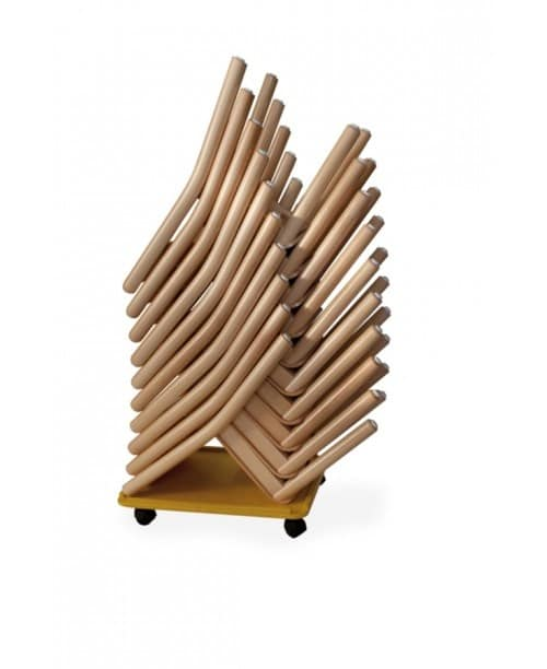 CIAO, Stacking small chairs, in colored wood, for kindergarten