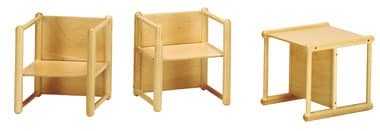 DIXI, Multipurpose chair, made of beech wood, for children