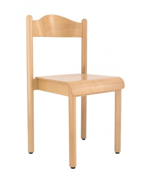 HEIDI, Stackable chair, for school and kindergarten, made of beechwood