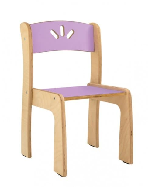 LOVE, Stackable chair in birch plywood, for children
