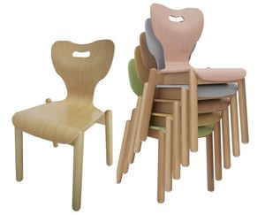 MIA, Children's chair, stackable, with anatomic design