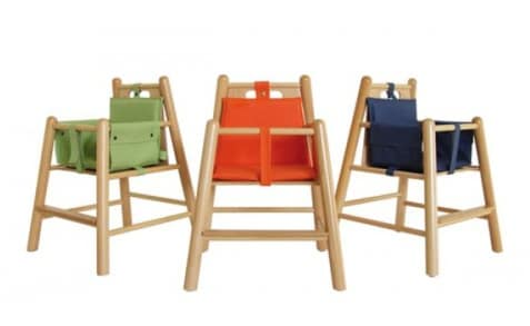 RONDÒ, Padded chair in beech, with round legs