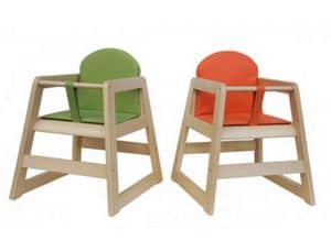 ROND�/Q, Stackable chair in beech, with square leg
