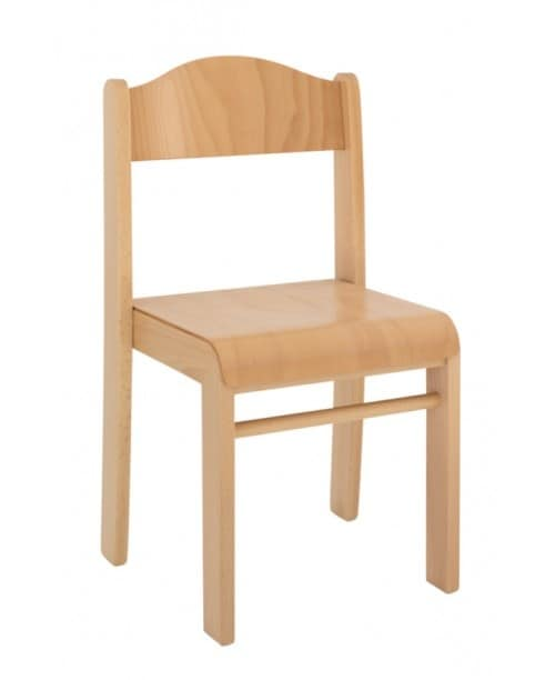 SISSI, Stackable chair in beech, available in various heights