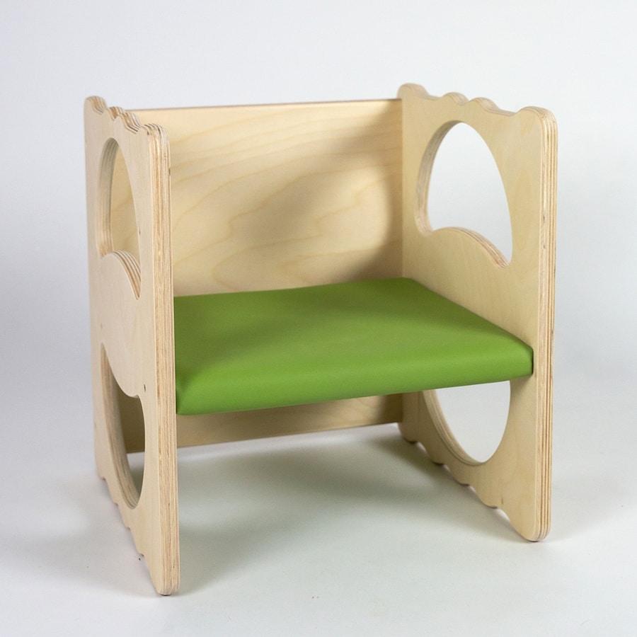 VANITY/I, Multipurpose chair, in wood, stackable