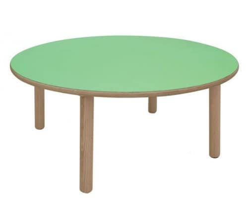 IT_C, Round wooden table, perfect for play areas