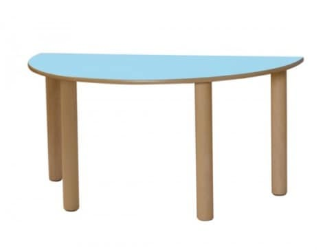 IT_S, Wooden table, with the shape of semicircle, for children