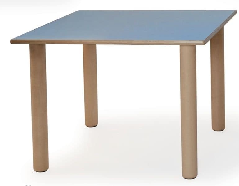 ITALIA COLLECTION, Modular table for children, made of wood, different colors, for schools and kindergartens