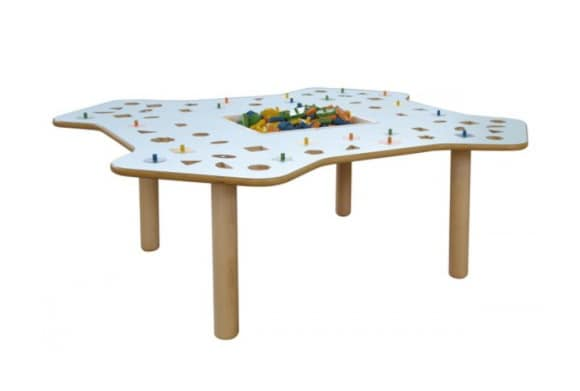 MARAMEO/G, Educational table in birch plywood, washable top