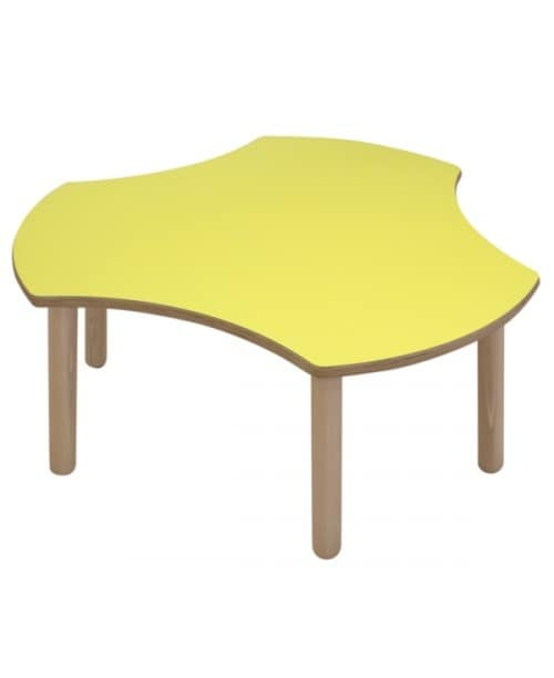 ONDA, Modular table for children, rounded edges and corners, different colors and shapes, for kindergartens and nursery schools