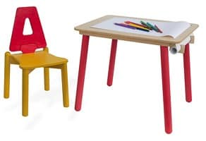 YO-YO, Children's desk, with paper holder, for kindergarten