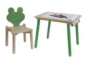 YO-YO, Children's desk, with paper holder, for kindergarten