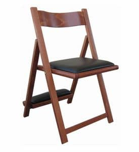 193, Chair in beech wood, with a kneeler, for churches