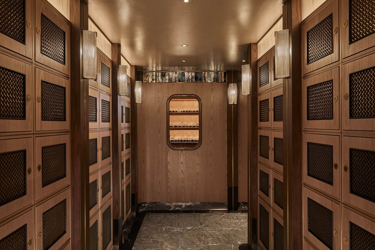 Lockers, Cigar storage cabinet