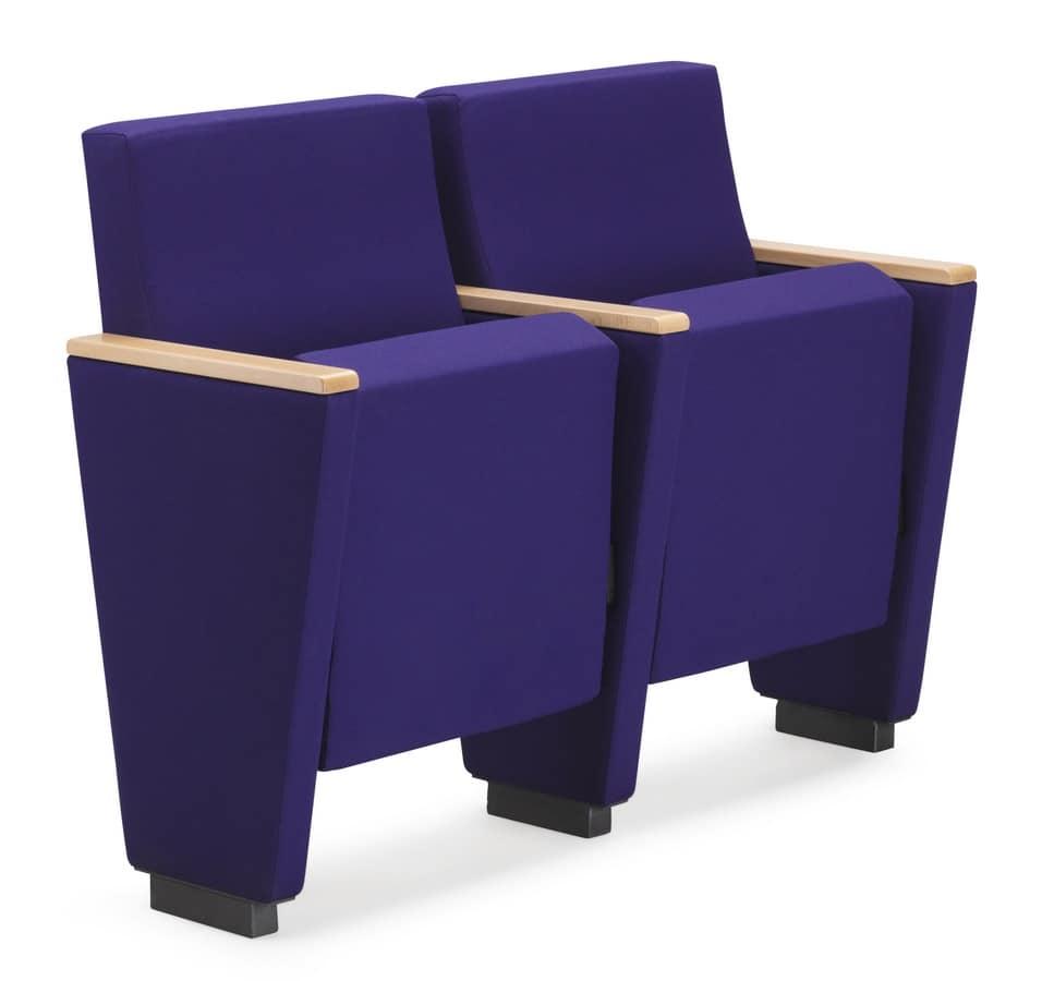ARAN 580, Auditorium armchair with folding seat