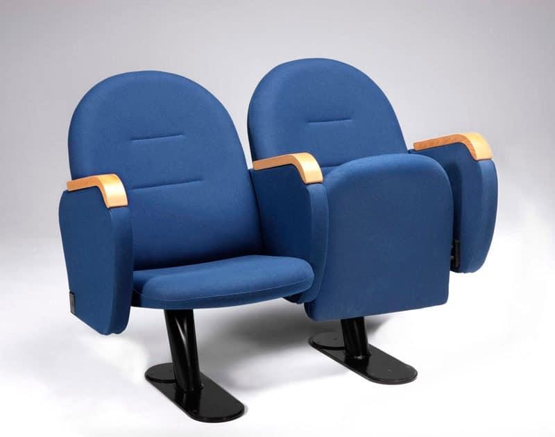 Arcua, Comfortable armchair with folding seat, for cinemas