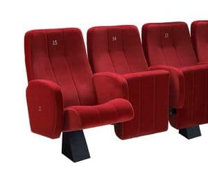 Comfort Plex, Fireproof padded chair for the cinema halls