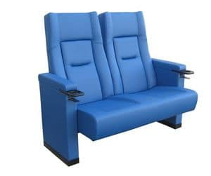 Comfort Rimini love seat, Upholstered polyurethane armchair for cinemas