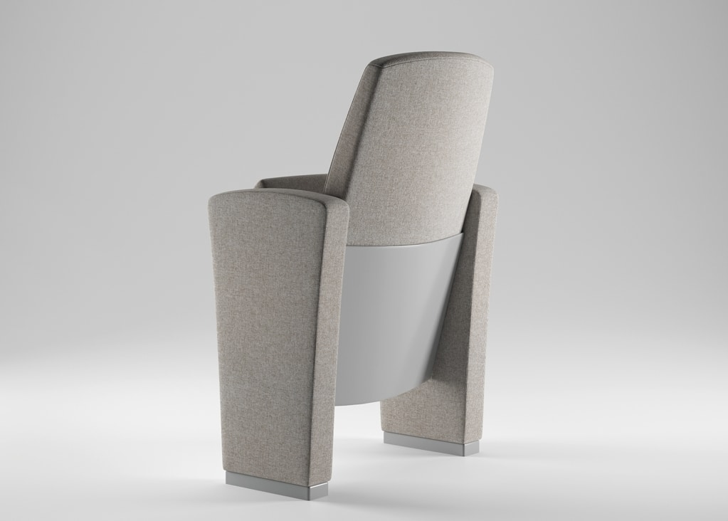 CONCERTO, Technological armchair for conference rooms, theaters and university lectures rooms