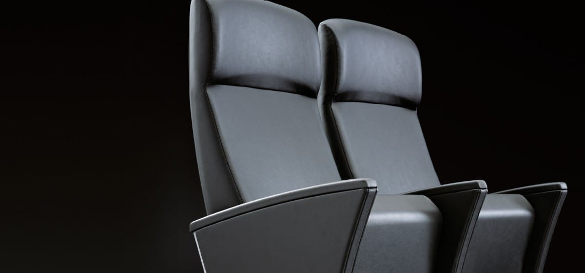 EIDOS PLUS, Armchair available with headrest for cinema and prestigious conference rooms