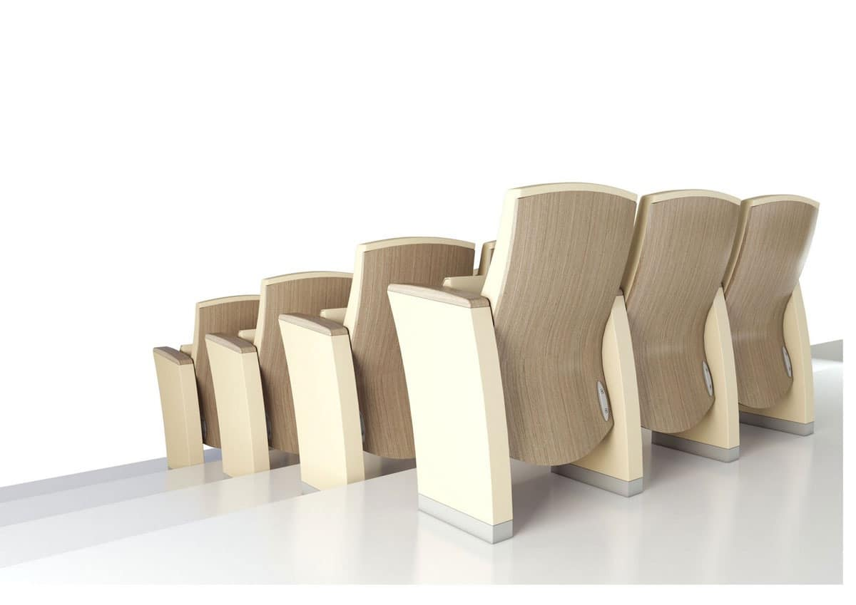 GENESIS, Multifunctional armchairs, customizable for every type of collective environment