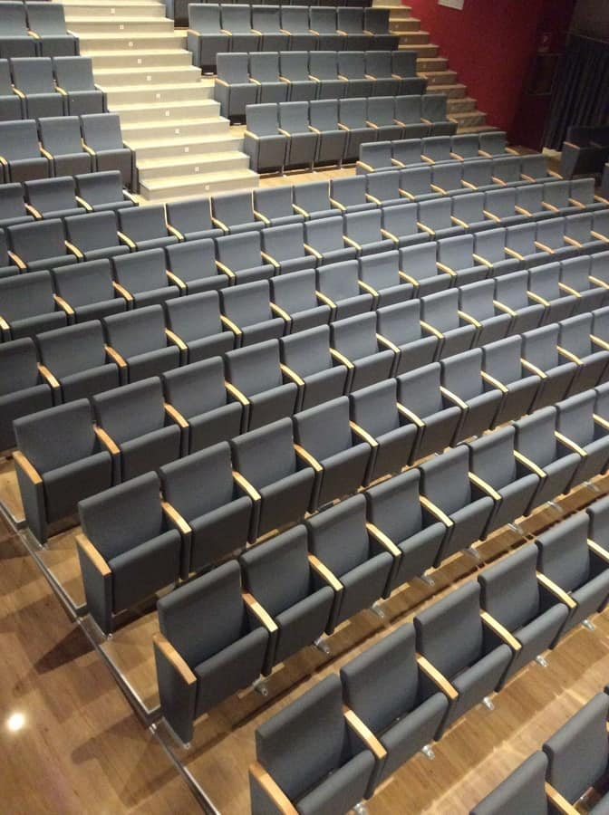 Giada ASC, Armchair for theater, folding seat, in polyurethane