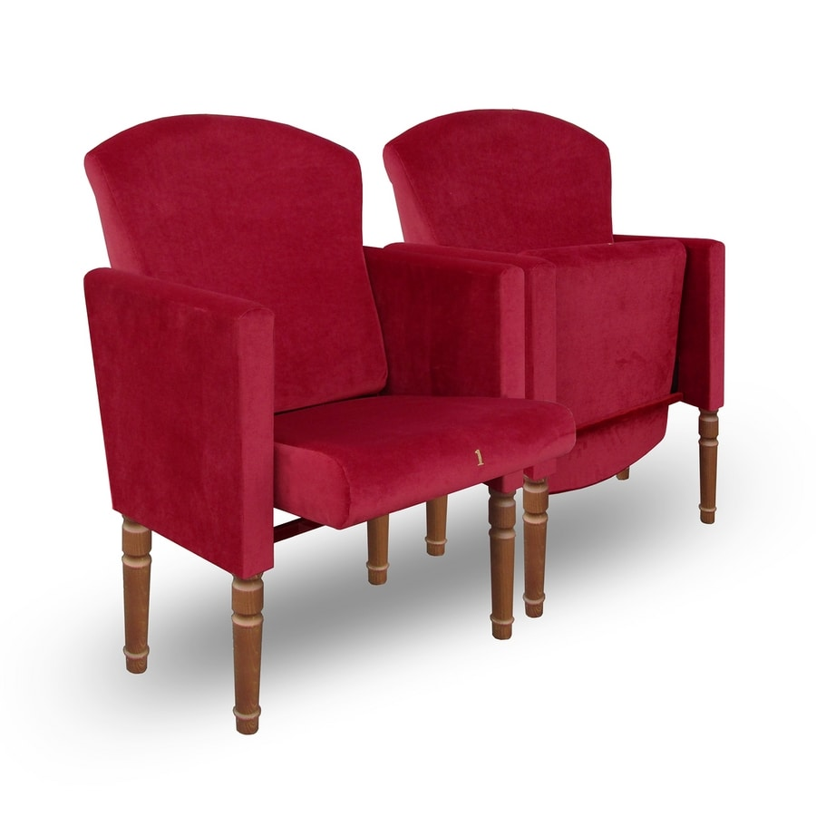 Giada P, Theater armchairs with removable covers