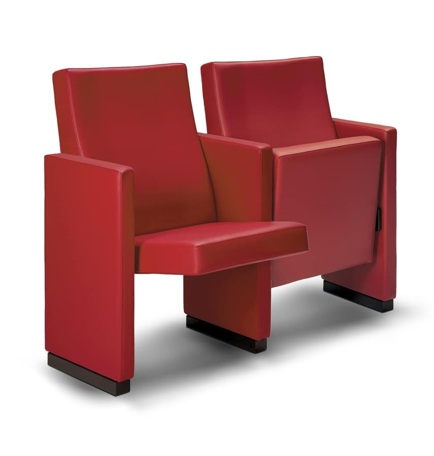 Gonzaga, Fireproof theater Armchairs with high comfort and design