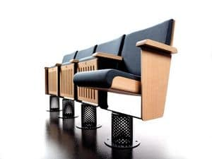 King, Armchairs fixed to the ground, reclining seat, for auditoriums and theaters