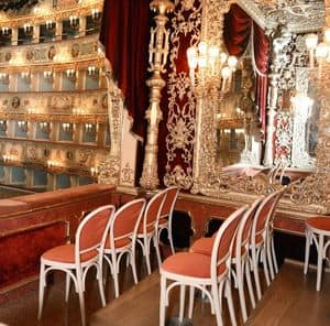 La Fenice Theatre in Venice, Customized chairs for theater, La Fenice in Venice