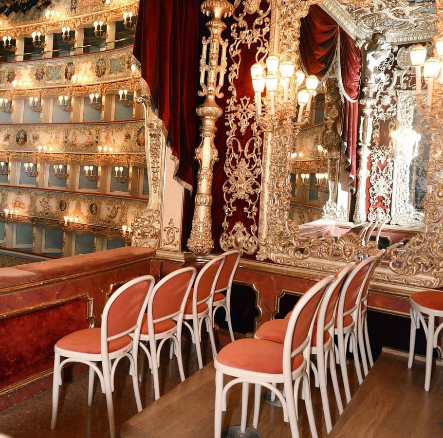 La Fenice Theatre in Venice, Customized chairs for theater, La Fenice in Venice
