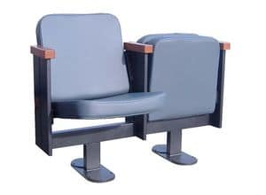 Movia 12, Chair with folding seat, for theater and cinema