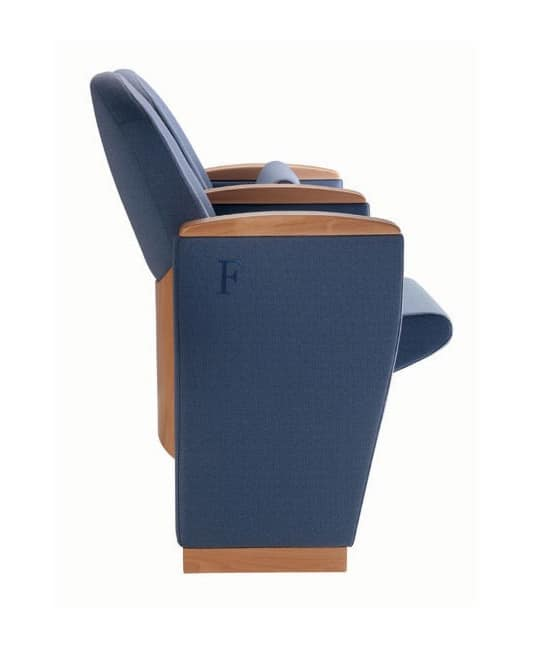 METROPOLITAN OPERÁ, Prestigious armchairs with classic lines, for auditoriums, theaters, conference halls